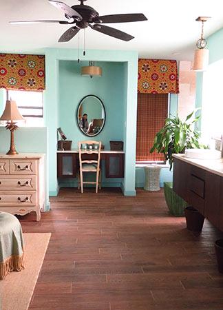 master bathroom area in suite