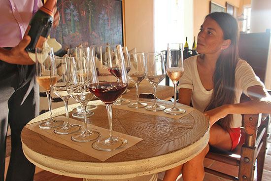 wine tasting at malliouhana