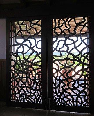 bedroom door inside master bedroom at wesley house