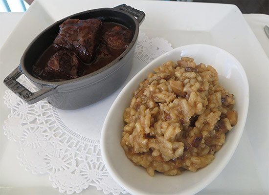 beef risotto at ocean 82