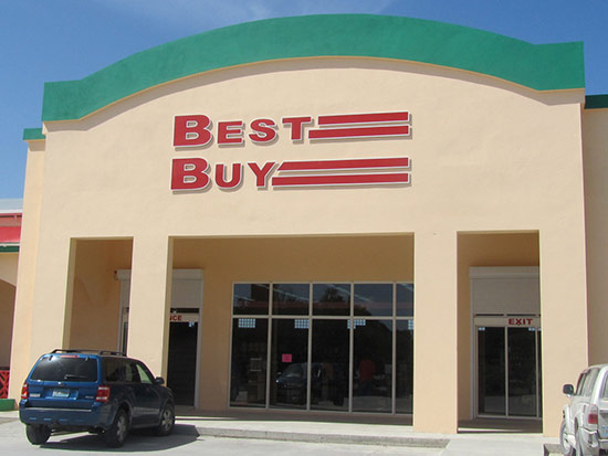 exterior of best buy in west end