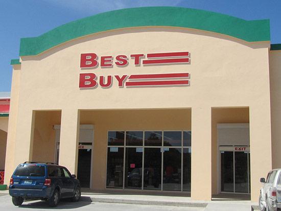 exterior of best buy in west end
