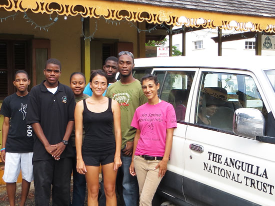 with the Anguilla National Trust team