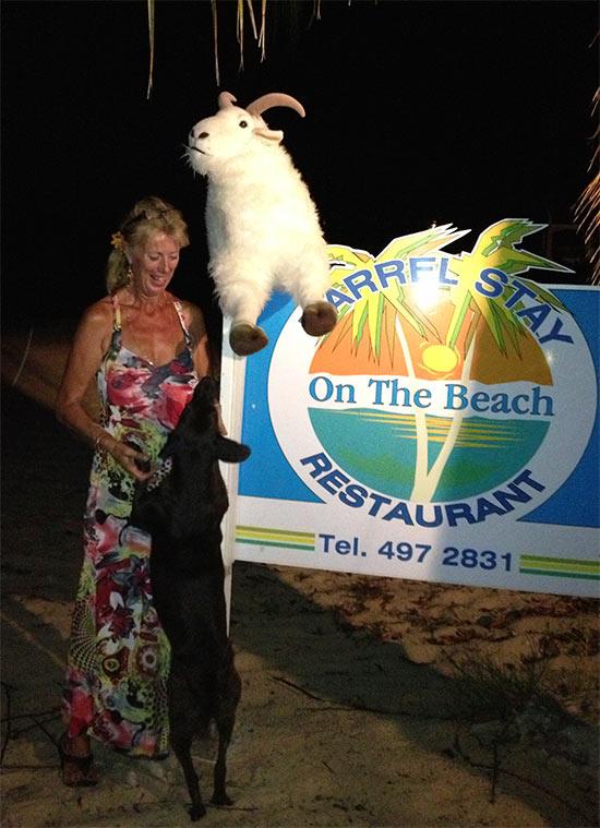 barrel stay anguilla restaurant on sandy ground