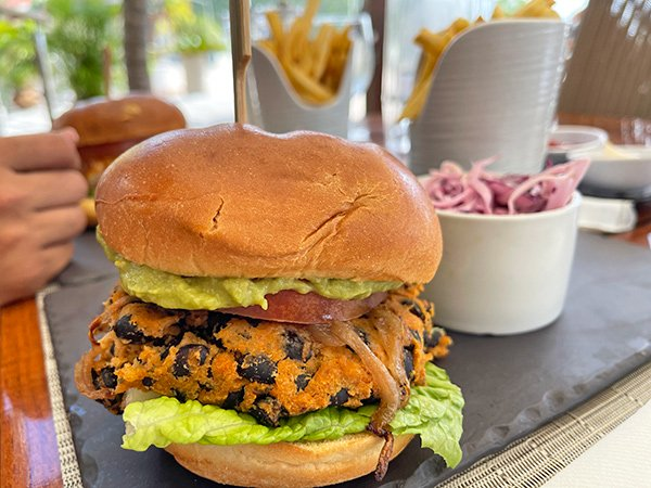 Black Bean Burger at Holland House