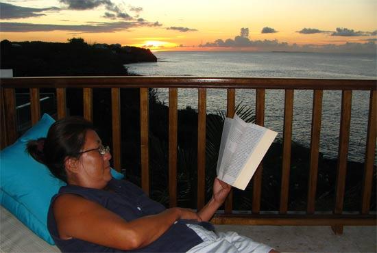 anguilla villa black pearl sunset