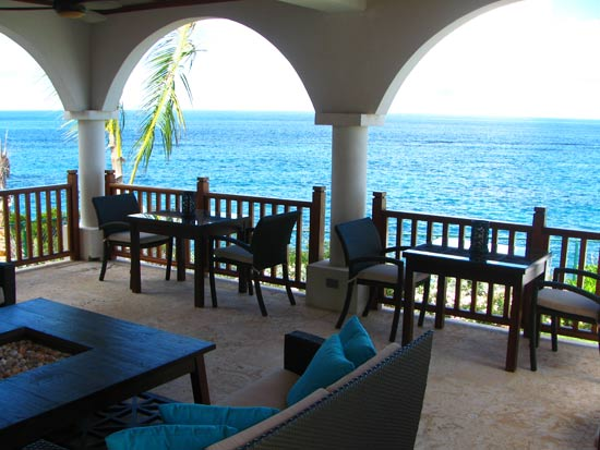 anguilla villa black pearl outdoor dining