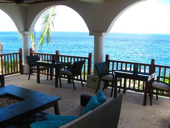 anguilla villa black pearl outdoor dining