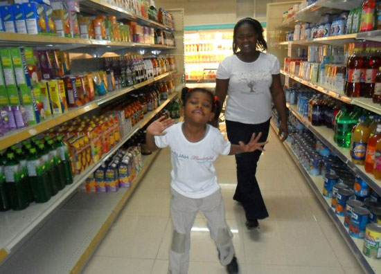 arijah with lorraine of the blossom centre