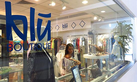 inside blu boutique at cuisinart