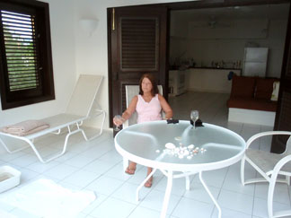 Anguilla hotel, Blue Waters, patio