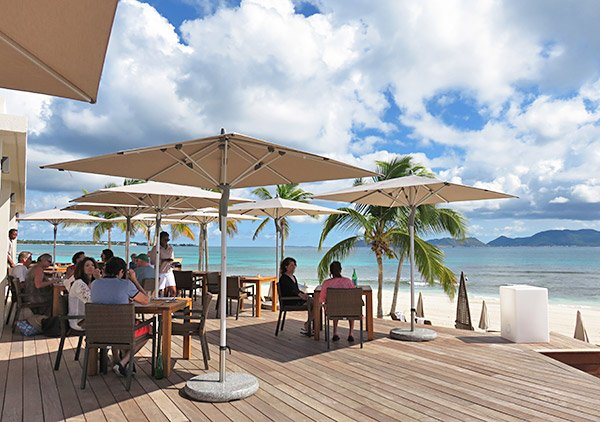 deck space at the reef breezes