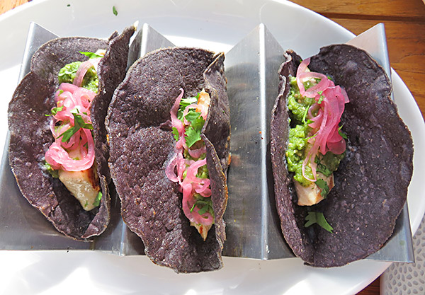fish tacos at breezes