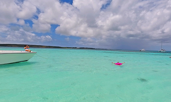 more floating in sandy island waters in anguilla