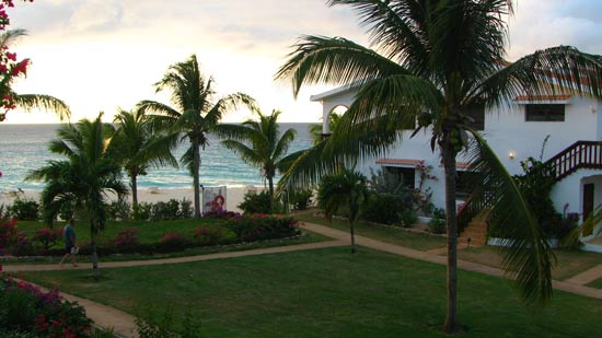 view from our porch at carimar