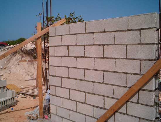 cement block wall