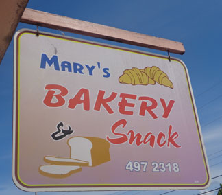 Mary's Bakery, Anguilla, cheap eats
