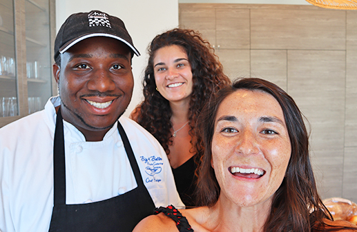 Chef Hodge, Louise and Nori