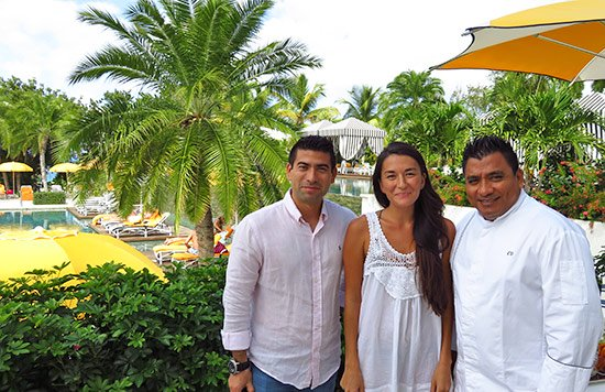 with chef ortiz and director of food and beverage jroge at malliouhana