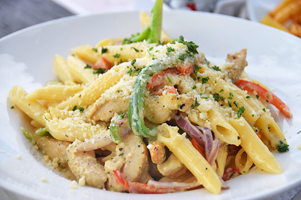 Chicken pasta in cream sauce