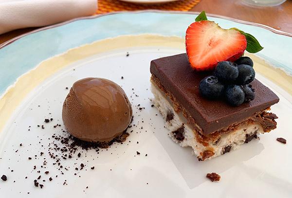 chocolate bar and guanabana at belmond