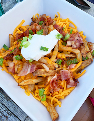 Classic loaded fries from waves