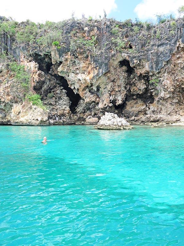 high cliffs at little bay anguilla