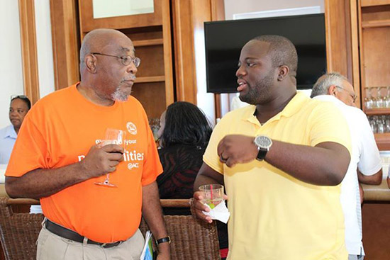 cocktails after anguilla chambers golf tournament
