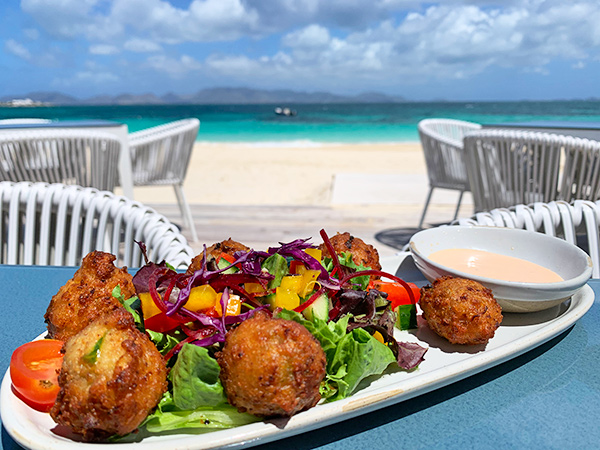 Conch Fritters at The Beach Bar and Grill at Cuisinart