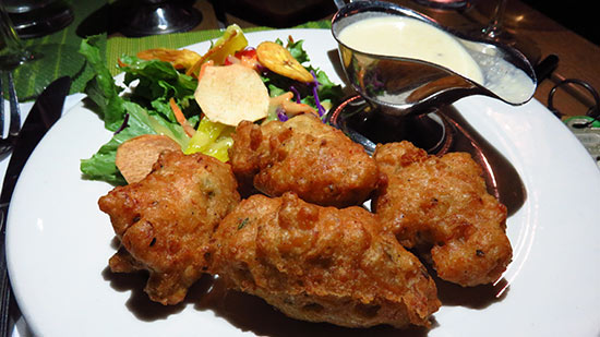 conch fritters from tastys restaurant
