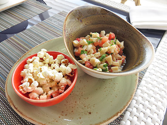 conch and watermelon ceviche