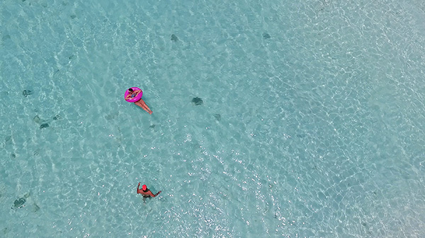 anguilla water drone shot