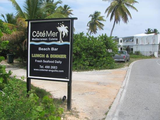 anguilla restaurants cote mer