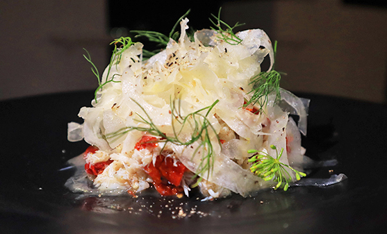 The Blue Swimmer Crab Salad at Santorini