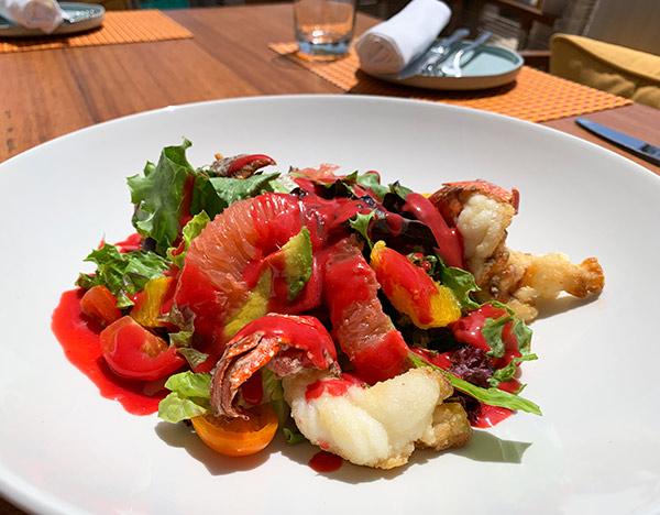crayfish barclays salad at belmond