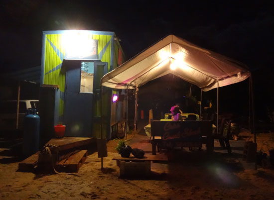 criss conch shack in sandy ground