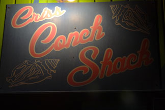 criss conch shack sign