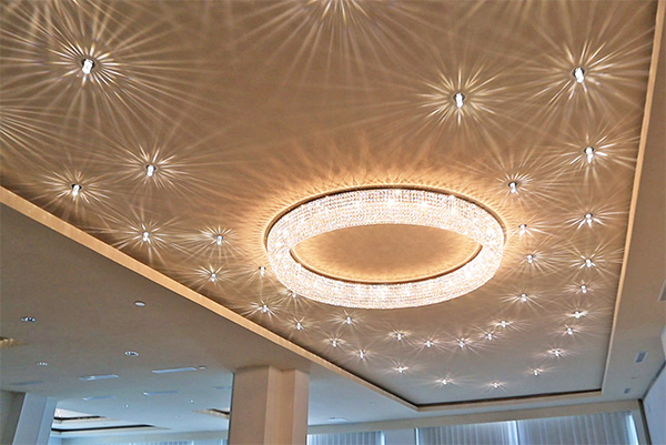 dazzling ballroom lighting at cuisinart anguilla