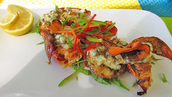 crayfish tapas dish