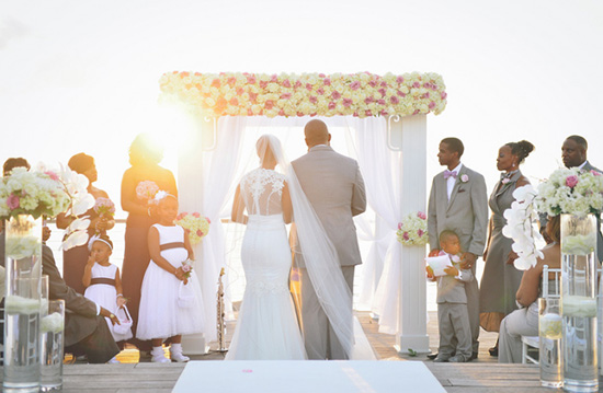 anguilla wedding at sunset