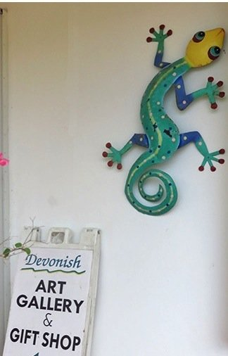 the friendly entrance to devonish art gallery