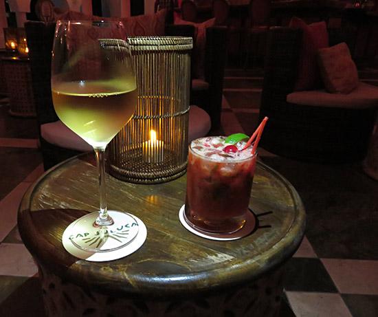 wine and raspberry mojito at cap juluca