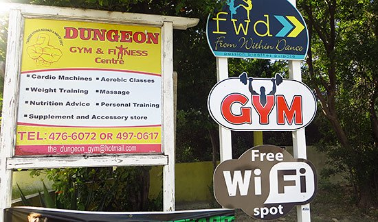 sign outside dungeon gym