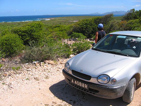 exploring the east end of anguilla with our toyota