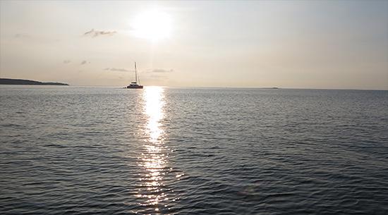 sailboat on the caribbean sea