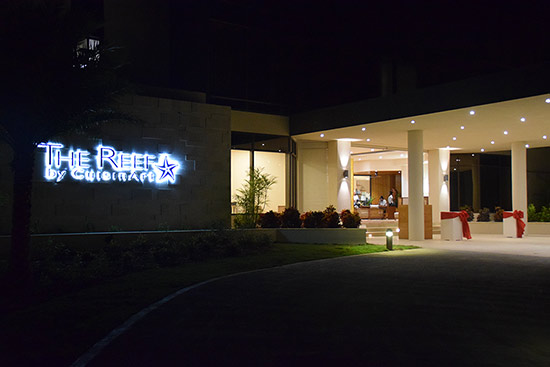 the entrance to the reef anguilla