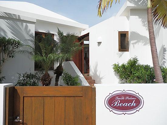 twin palms anguilla villa beach palm entrance
