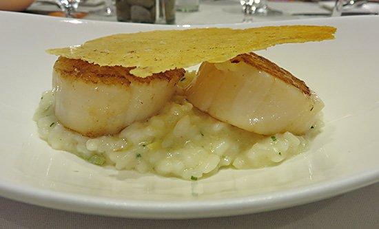 rissoto with scallops at epicurea