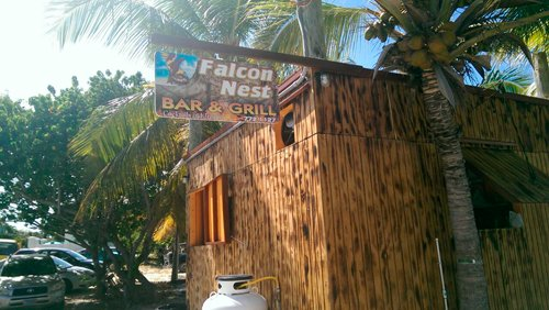 the side of falcon nest