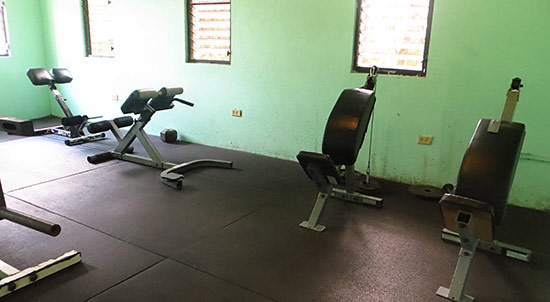 weight room at dungeon